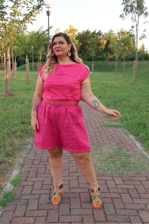 outfit curvy tutorial diy pantaloncini cartamodello pdf (4)