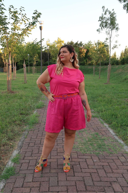 outfit curvy tutorial diy pantaloncini cartamodello pdf (3)