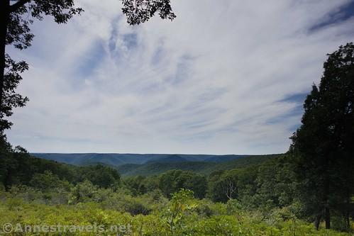 Big skies at the Bonnel Vista along the Golden Eagle Trail, Tiadaghton State Forest, Pennsylvania