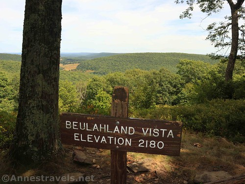 Sign at the Beulahland Vista along the Golden Eagle Trail, Tiadaghton State Forest, Pennsylvania