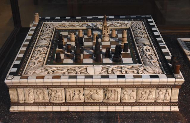 Oxford, Ashmolean Museum, chess board ~1420-50