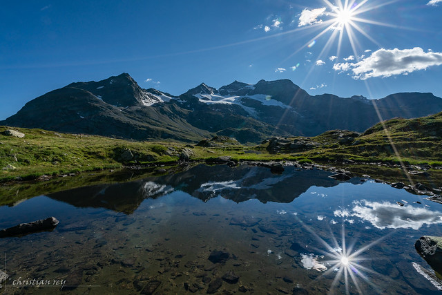 Little lake on Berninapass (Switzerland)