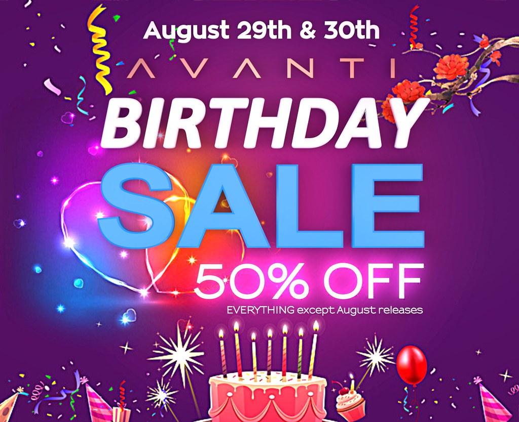 Avanti Birthday Sale 2020!!