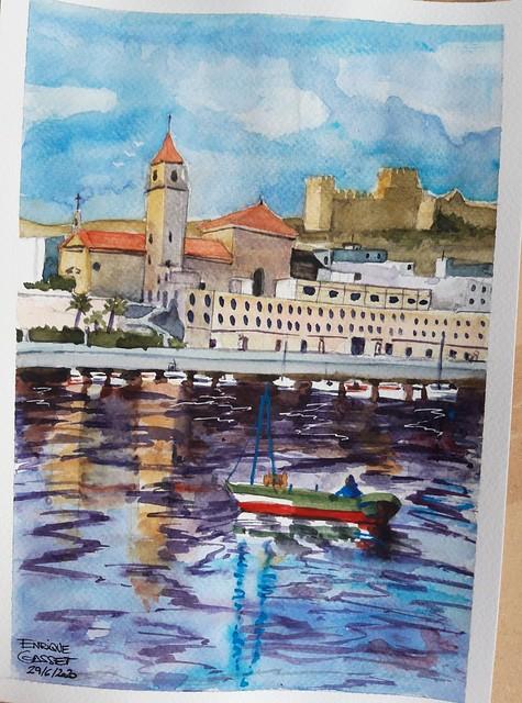 Bocetos para las pinturas de Pilucha, había que hacer 3 (Melilla, Málaga y Almería)