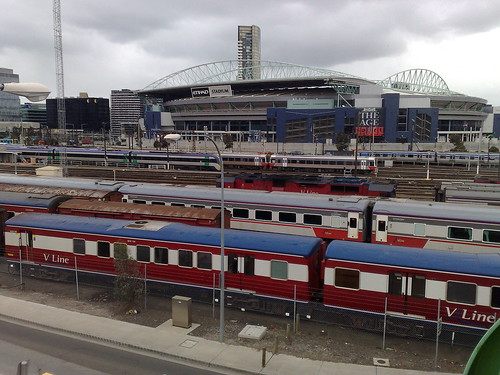V/Line stabling at Southern Cross station, August 2010