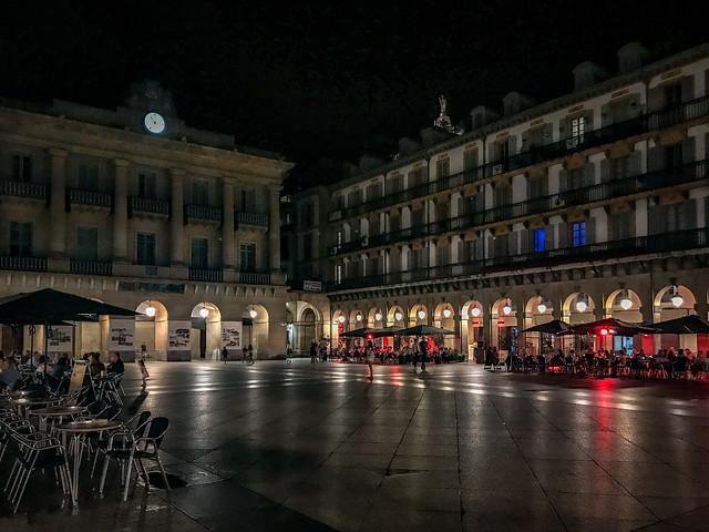 San Sebastián at Night