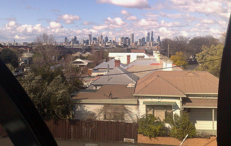 View of City from Footscray, August 2010