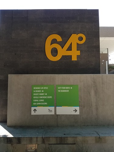 Yellow 64 Sign - UCSD