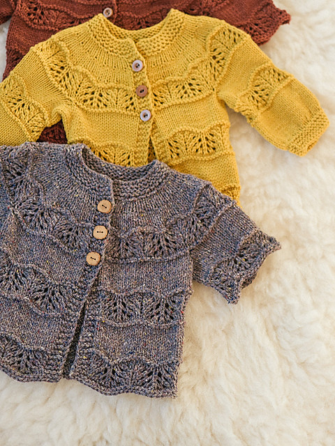 Kī Cardigan by Leila Raven is a seamless, top down sweater in DK weight for little ones up to 6 years old.