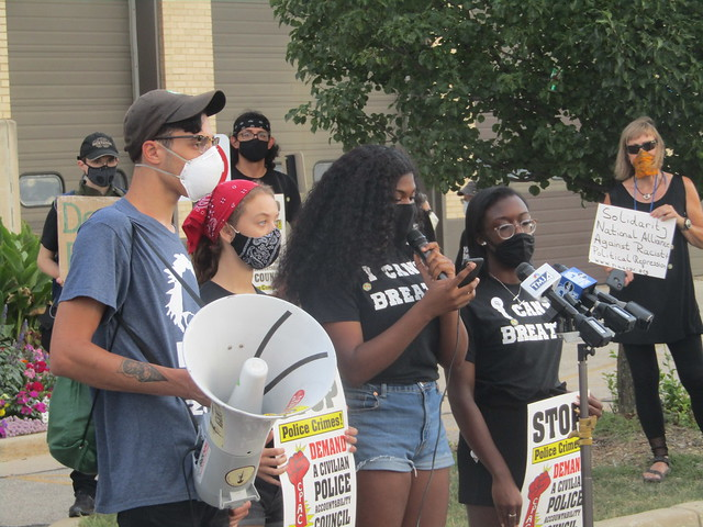 BLM Kenosha press conference - speakers
