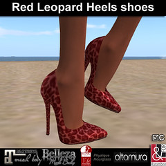 Red Leopard Stiletto Shoes