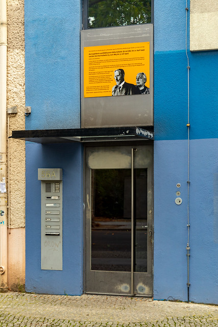 Der Eingang zum ehemaligen Wohnhaus von Käthe Kollwitz