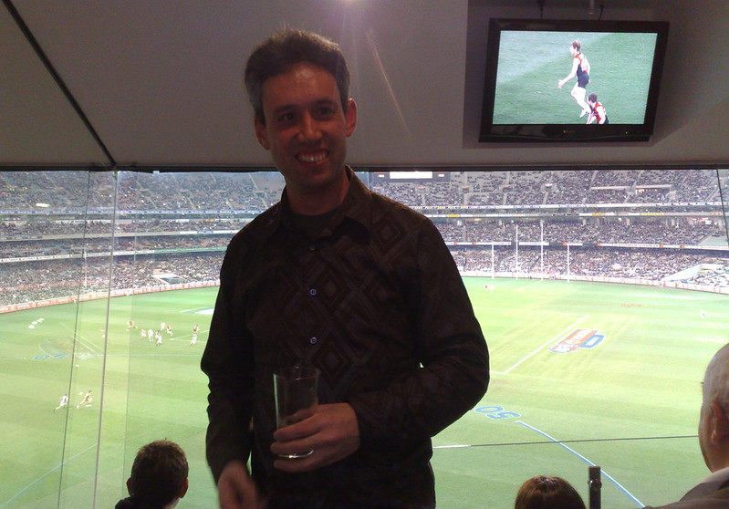 At the footy, August 2010