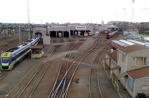 V/Line facilities at Southern Cross station, August 2010