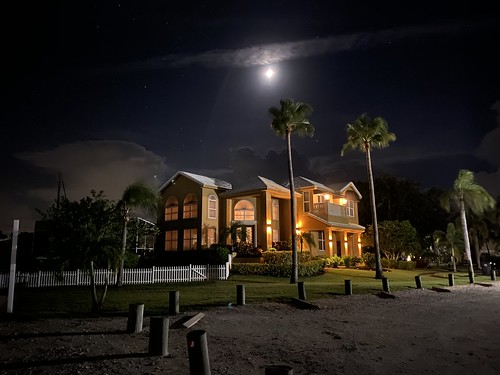 imran landscaping palmtrees nightlights iphone longexposure night moon waterfront home realestate luxuryhomes apollobeach tampabay florida