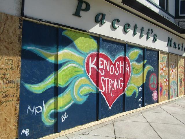 """Pacetti's Music - """"Kenosha Strong"""" mural"""
