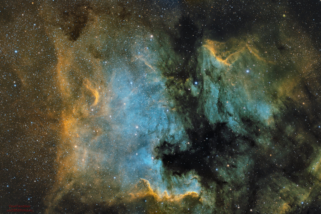 Nebulosas Norteamérica & Pelícano en paleta SHO