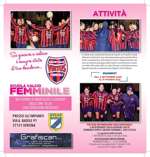 Calcio Femminile, al via la Scuola Calcio della Virtus - 1