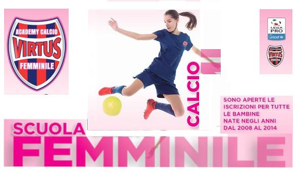 Calcio Femminile, al via la Scuola Calcio della Virtus