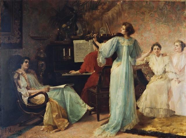 Francesc Masriera (1842-1902) - Una melodia de Schubert