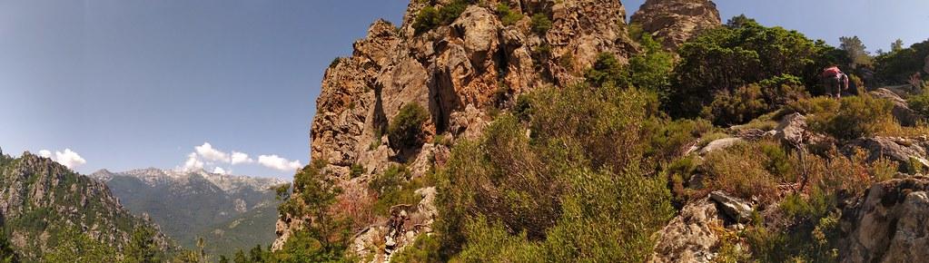 Panoramique dans le couloir du Kyrie en arivant vers la crête