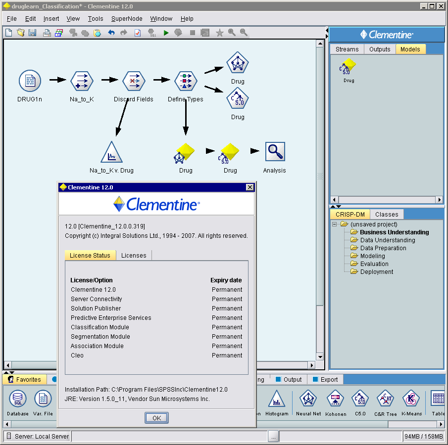 Working with SPSS Clementine v12 full license