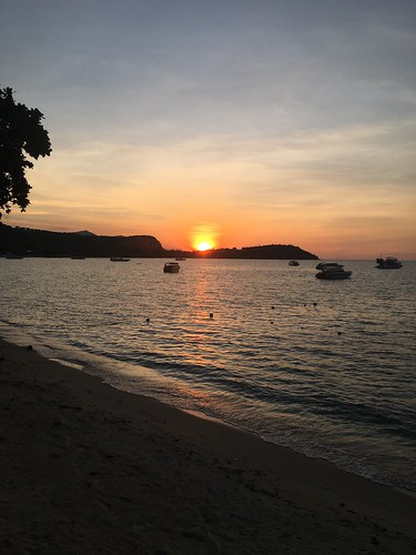 sunset bigbuddha beach koh samui