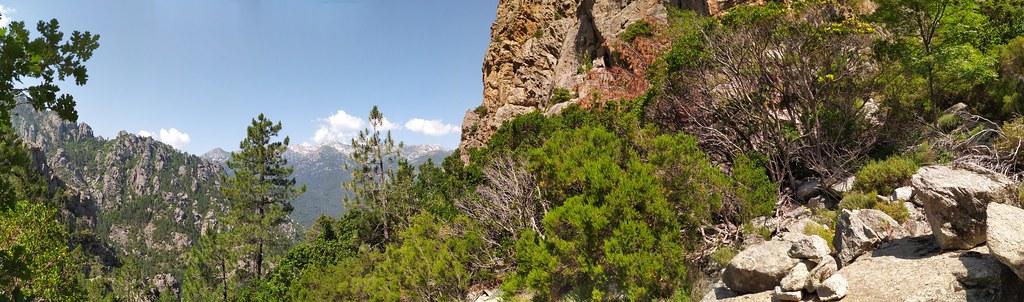 Panoramique dans le haut du ravin affluent du Vaglie