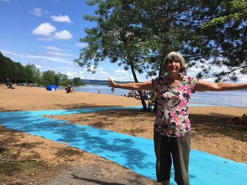 Bonnechere - Linda at the beach