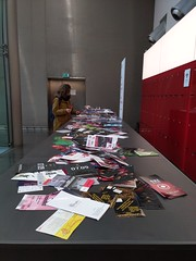 Berlinale flyer table, February 2020