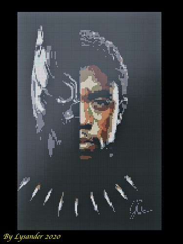 In memory of Chadwick Boseman/Black Panther | by Lysander's Stud Studio