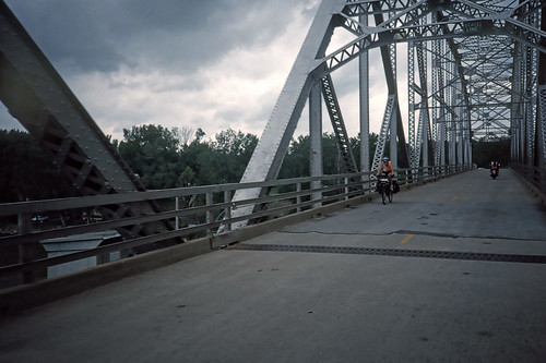 West-to-East Cyclist Crossing Missouri River