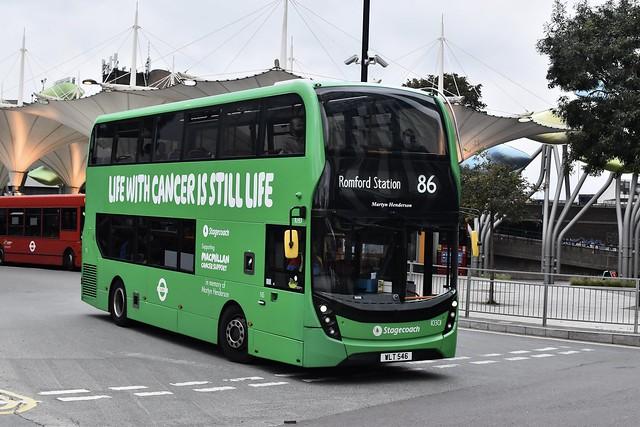 Stagecoach London (Romford) Enviro 400 MMC - WLT 546 10301 - Route 86