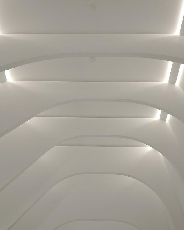Looking up, Hayden Street exit #toronto #blooryonge #yongeandbloor #haydenstreet #white #ceiling #architecture