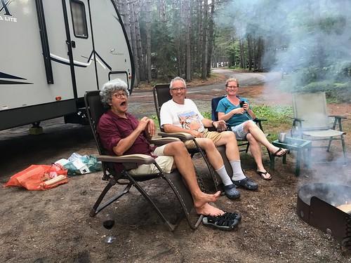 Chutes - Sitting around the fire
