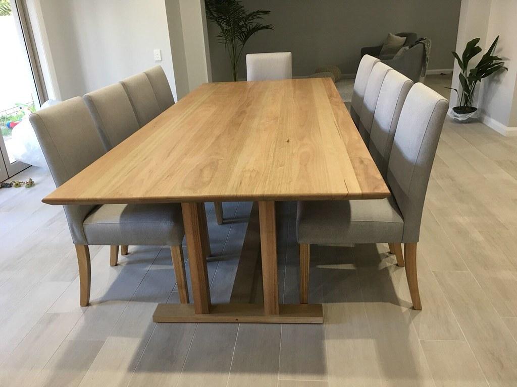 Australian Made Solid Tasmanian Oak Hardwood Timber 11 Pieces Dining Set