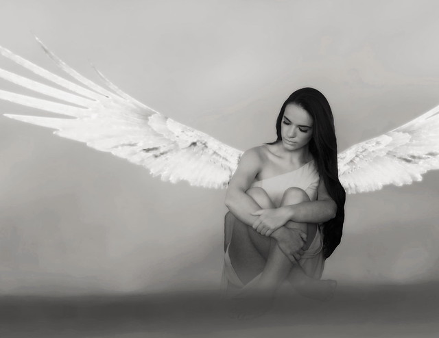 Just Stretching Her Angel Wings