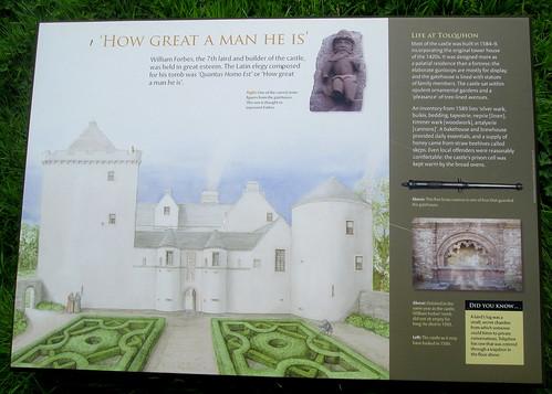 Tolquhon Castle Information Board