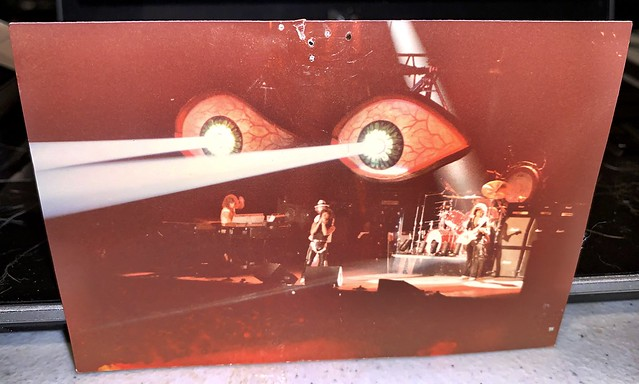 Ritchie Blackmore's Rainbow Straight Between The Eye's Tour Capital Center Largo Maryland - Photo Date on Back July 1982