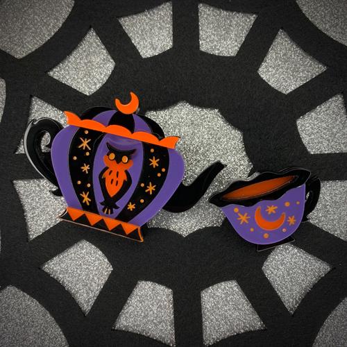 Erstwilder x Kitschy Witch Designs Cursed Cuppa Brooch
