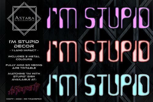 Astara - I'm Stupid Sign