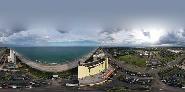 Melbourne Beach, Florida aerial 360