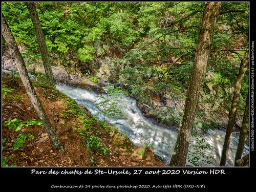 Parc des chutes de Ste-Ursule, 27 aout 2020 Version HDR