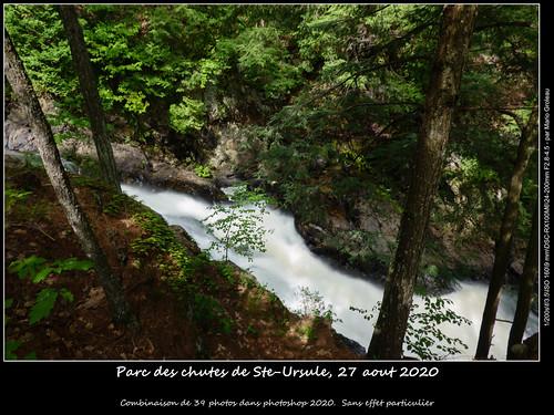 Parc des chutes de Ste-Ursule, 27 aout 2020