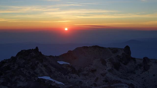 Lassen Peak Sunset