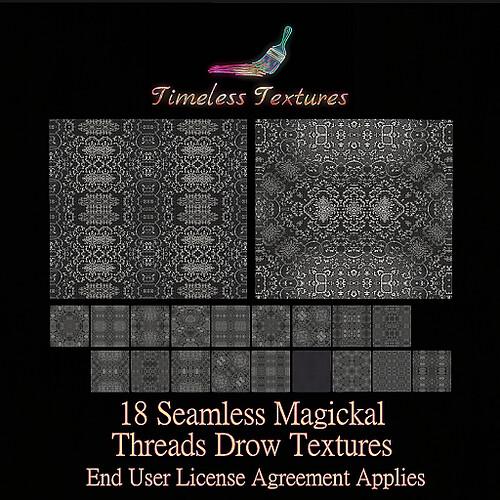 TT 18 Seamless Magickal Threads Drow Timeless Textures
