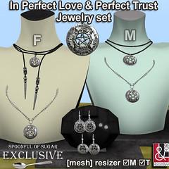In Perfect Love & Perfect Trust F & M jewelry set