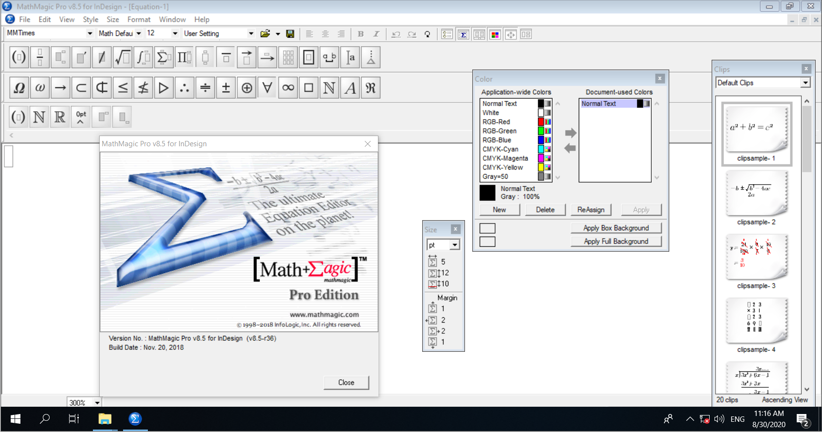 Working with MathMagic Pro v8.5.0.36 full license