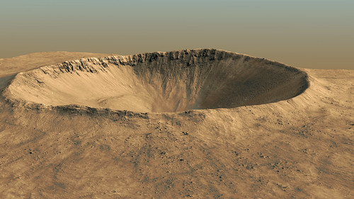 3km Impact Crater on Mars