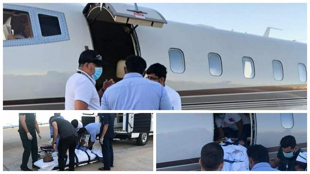 5729 Expat family thanked a Saudi for repatriating sick employee with private jet 01